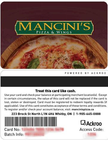 Mancinis gift card